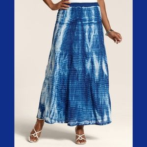 Chico's Tie-Dye Terri Maxi Skirt